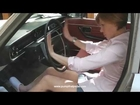 Pedal Pumping Princess Cranking Volvo in Nurse Clogs