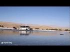 Pajero crossing Mulla River, Jhal Magsi - 1