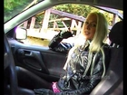 Alice 3 - Leathergirl Smoking in a Car