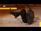 Gerard Butler cracks nuts with his ass