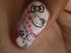 Nail Art tutorial Hello kitty Nail polish design ideas for beginners to do at home cute long nails