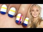 Striped Nails ♥ AnnaSophia Robb Inspired