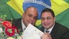 Portrait d'un couple gay du Brésil