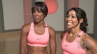 Kelly Rowland and Jeanette Jenkins' 'Sexy Abs Cardio Sculpt' Workout Video