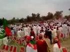 Imran Khan Heli going to Peshawar Jalsa from Nowshera Jalsa.